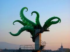 high diving octopus